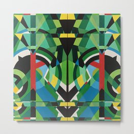 greens mirror Metal Print