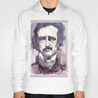 edgar allan poe Hoodies featuring Edgar Allan Poe by Germania Marquez