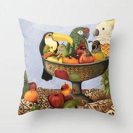 Bird Still Life Throw Pillow