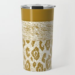 Animal Print Golden Cream Pattern Travel Mug