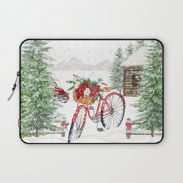 Winter Bicycle Laptop Sleeve