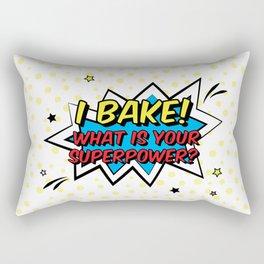Happy Superhero Baker Rectangular Pillow