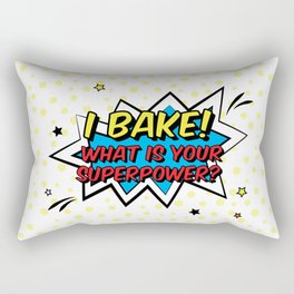 Happy Superhero Baker Rectangular Pillow