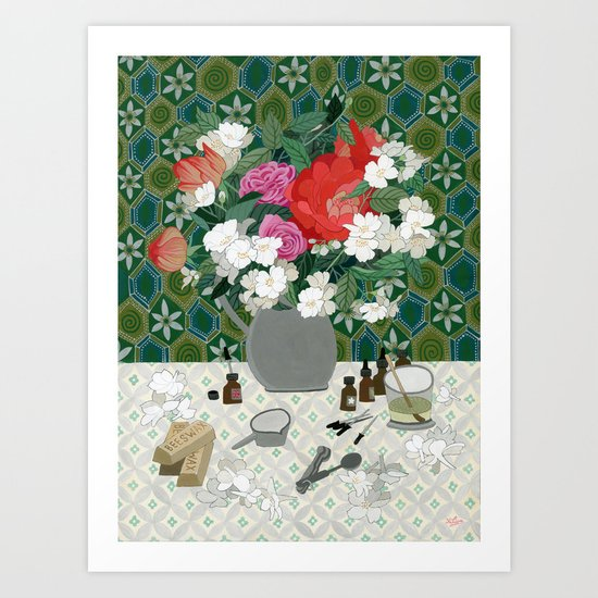 Making perfume Art Print