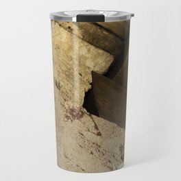 Structural element of ancient greece architecture. (natural version) Travel Mug