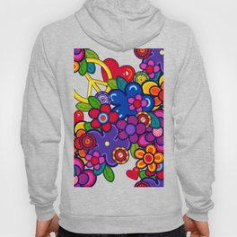 Peace, love and flowers- t-shirt  Hoody