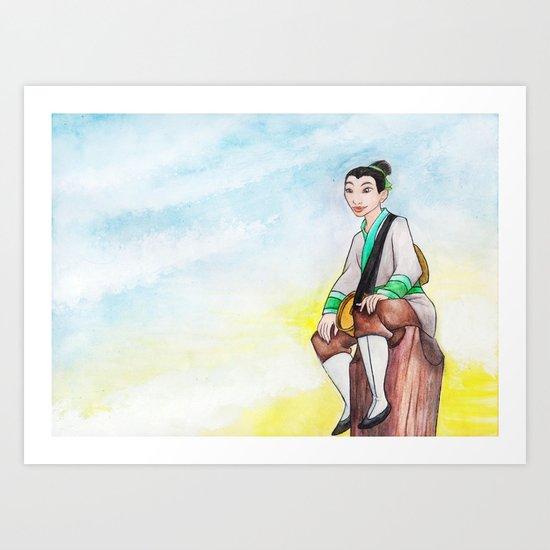 Be a Man Art Print