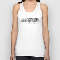 hollywood Tank Tops featuring Hollywood by KitschyPopShop