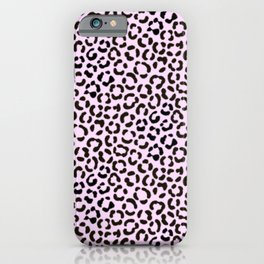 Trendy Black & Pink Leopard Fur Effect Pattern iPhone Case