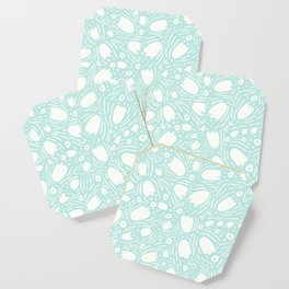 Floral Reverie in Seafoam Coaster