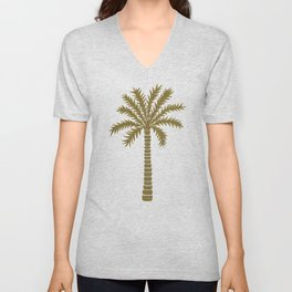 Gold Palm Tree Unisex V-Neck
