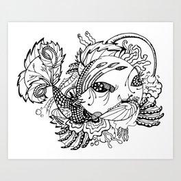 Somefin Fishy Art Print