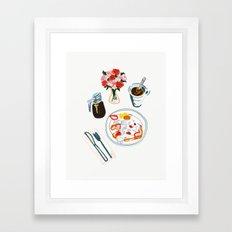 Plastic Carnations Framed Art Print