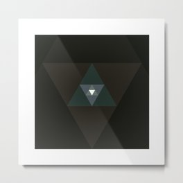 #359 Graced with light part I (triangle) – Geometry Daily Metal Print