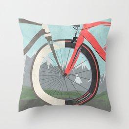 Tour De France Bicycle Throw Pillow