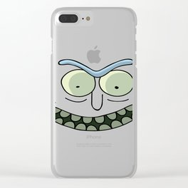 Rick and Morty Pickle Rick Face Clear iPhone Case