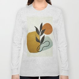 Soft Abstract Small Leaf Long Sleeve T-shirt