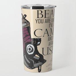 Say Cheese! collection: vintage folding camera Travel Mug