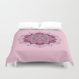 Lavish Pink Flower Duvet Cover