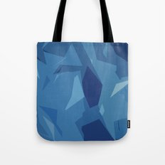 Blue Abstract Map Tote Bag