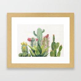 Cactus Watercolor Framed Art Print