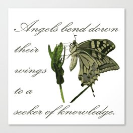 Angels Bend Down Their Wings To A Seeker Of Knowledge Canvas Print