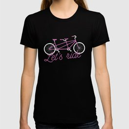 Let's Ride Tandem Bicycle - Purple T-shirt