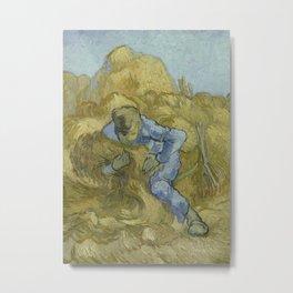 The Sheaf-Binder (after Millet) Metal Print