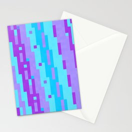 Turquoise blue and purple Stationery Cards