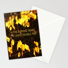 Burning heart Stationery Cards