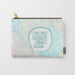 Imitation game.. sometimes the people, alan turing quote Carry-All Pouch