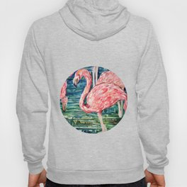 Flamingo Party Pink and Tropical Hoody