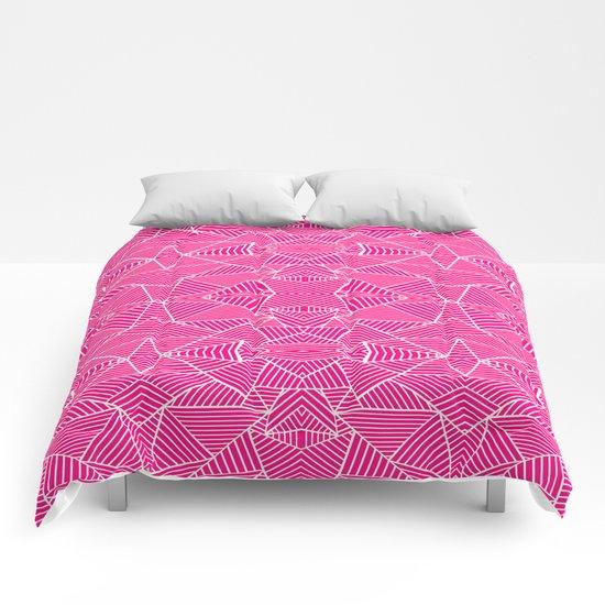Ab Zoom Mirror Fushia Comforters