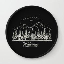 Beautiful of Wilderness Wall Clock