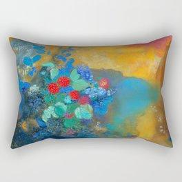 Odilon Redon, Ophelia Amongthe Flowers Rectangular Pillow