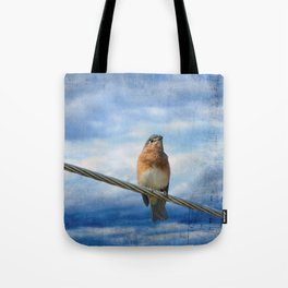 Heavenly Song Of The Bluebird Tote Bag