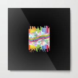 Colorful Musical Theme Metal Print