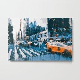 New York, Manhattan Panorama Metal Print