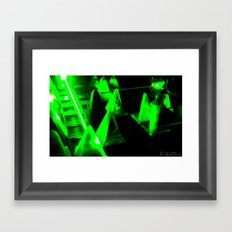 Green Lasers Framed Art Print