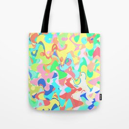 Chaotic vision, vibrant colors and shapes, funny mess Tote Bag