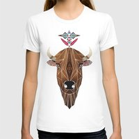 bison T-shirts featuring bison by Manoou