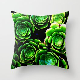 Green patterns Throw Pillow