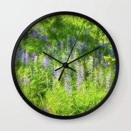 Flowers Gone Wild Wall Clock
