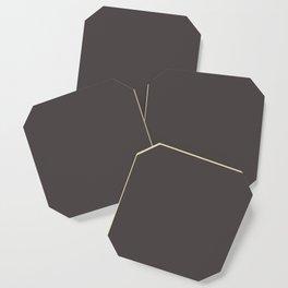 Solid Black Cow Color Coaster