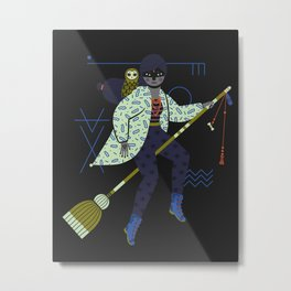 Witch Series: Broomstick Metal Print