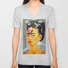 Frida Kahlo Fly Unisex V-Neck
