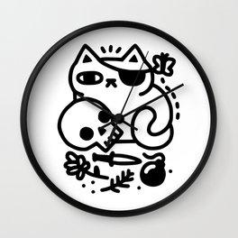 Badass Cat Wall Clock