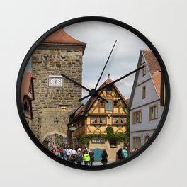 Rothenburg ob der Tauber Impression Wall Clock