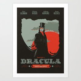 Dracula movie poster Art Print