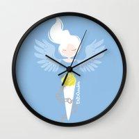 depression Wall Clocks featuring Endometriosis & Depression by OhhhKaye